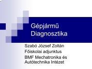 diagnosztika - Mechatronikai és Autótechnikai Intézet