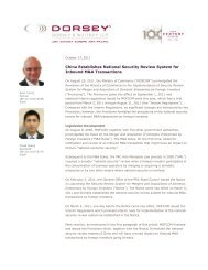 China Establishes National Security Review System for Inbound ...