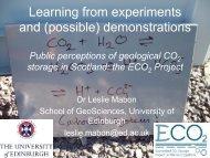 ECO2 public perception studies (Scotland) - CO2Geonet
