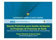 Estudo Preliminar para Gestão Ambiental na Produção de Pranchas ...