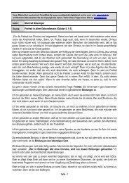 Autor: Manfred Mössinger Thema: Freiheit in allem ... - Kahal.De