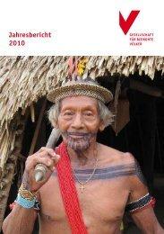 Jahresbericht 2010 - Gesellschaft für bedrohte Völker