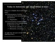 Today in Astronomy 142: observations of stars - Astro Pas Rochester