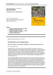 Über Baden-Baden - Casimir Katz Verlag