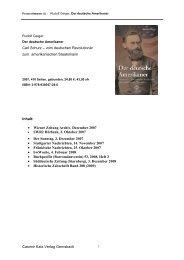 Casimir Katz Verlag Gernsbach Carl Schurz – vom deutschen ...