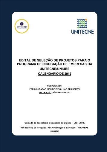 EDITAL DE SELEÇÃO DE PROJETOS PARA O ... - Uniube