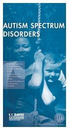 Autism Spectrum Disorders - UC Davis Extension