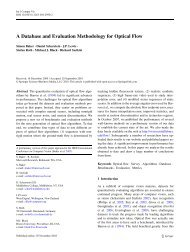 A Database and Evaluation Methodology for Optical Flow - JP Lewis