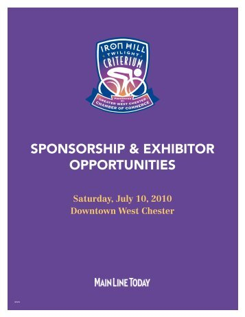 SPONSORSHIP & EXHIBITOR OPPORTUNITIES - Main Line Today