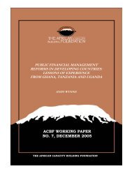 Public Financial Management Reforms in Developing ... - ACCA