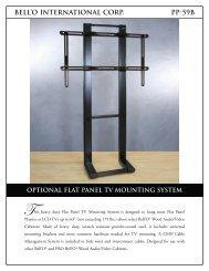 bell'o international corp. pp-59b optional flat panel tv mounting system