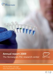 Annual report 2009 - Research at Oslo University Hospital