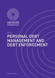 Personal Debt Management and Debt Enforcement - Law Reform ...