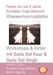 Wassermannzeitalter Workshops & Kirtan mit Sada Sat Kaur & Sada ...
