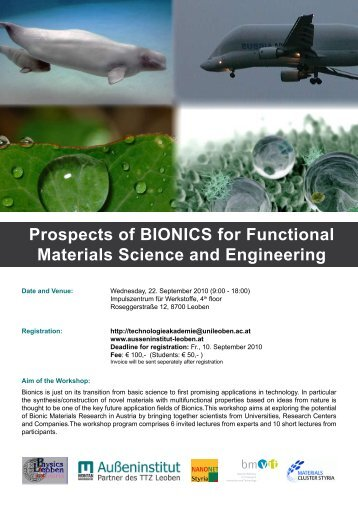 Prospects of BIONICS for Functional Materials Science and ...
