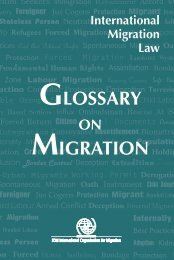 International Migration Law, Glossary on Migration, Richard ...