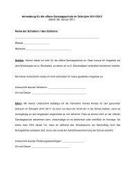 Anmeldung für die offene Ganztagsschule im Schuljahr 2011/2012 ...