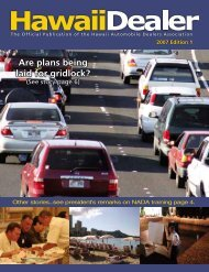 Are plans being laid  for gridlock? - Hawaii Automobile Dealers ...