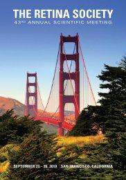 September 23 – 26, 2010 San FranciSco, caliFornia the retina Society