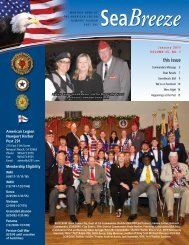 Seabreeze January 2011 - American Legion Newport Harbor Post 291