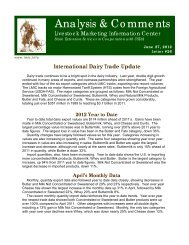 Analysis & Comments - Understanding Dairy Markets