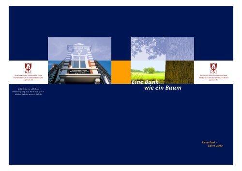 Eine Bank wie ein Baum - Ritterschaftliches Kreditinstitut Stade