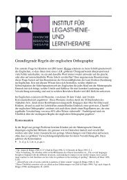 Zentrale Regeln der englischen Orthographie - Institut für ...