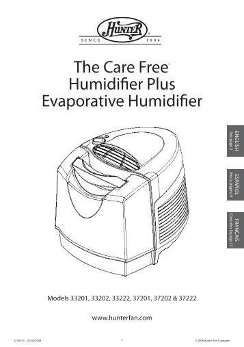 EN SF-5063 Evaporative Cool Mist Humidifier Instruction