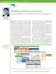 Building a Roadmap to Success - IBIS Prof. Thome AG