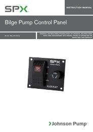 Bilge Pump Control Panel - Johnson Pump