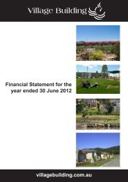 Financial Statements 2012 - Village Building