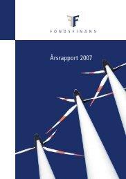 Årsrapport 2007 - Fondsfinans