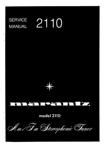 Page 1 Page 2 MARANTZ DESIGN AND SERVICE Using superior ...