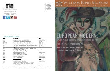 July & August Newsletter 2013 - William King Museum
