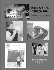 Annual Report 2004 First draft 9.7.04.qxd - Boys & Girls Village