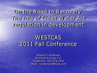 On the Road to Recovery: The role of Clean Water Act regulation in ...
