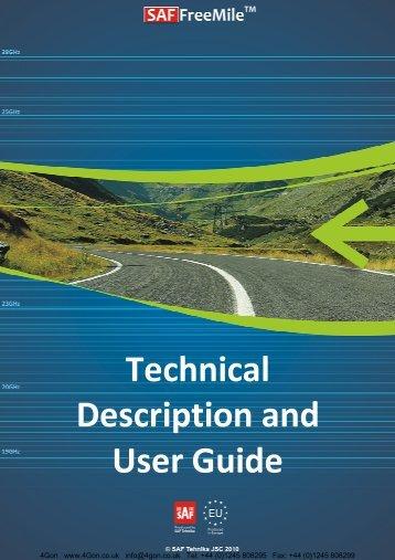 SAF FreeMile Technical Description & User Guide - 4Gon