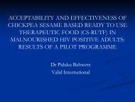 Acceptability effectiveness of cs-rutf HIV pos adults