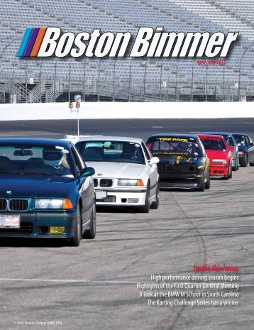 April 2012 - Boston Chapter BMW CCA
