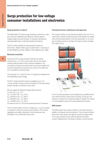 Surge protection for low-voltage consumer installations and ...