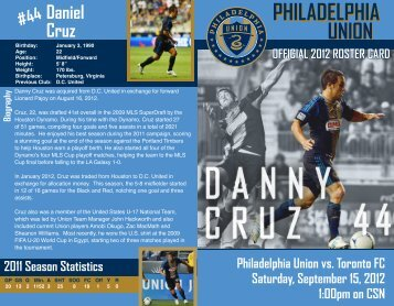 roster card - Philadelphia Union