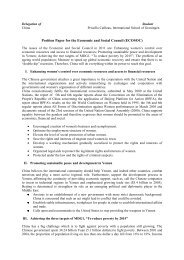 Position Paper for the Economic and Social Council ... - munol