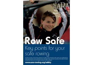 Row Safe Leaflet - British Rowing