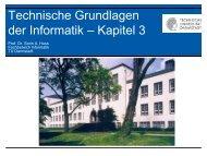 Technische Grundlagen der Informatik – Kapitel 3 - Integrated ...