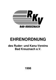 EHRENORDNUNG - und Kanuverein Bad Kreuznach