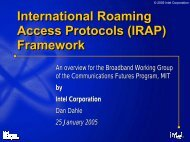 International Roaming Access Protocols (IRAP) - MIT ...