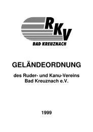 Gelaendeordnung - und Kanuverein Bad Kreuznach