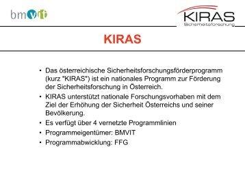 Ziele - KIRAS Sicherheitsforschung