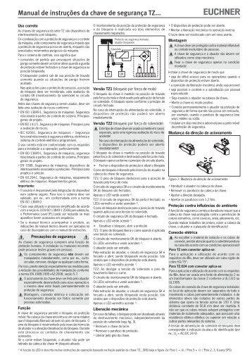 Manual de instruções da chave de segurança TZ... - EUCHNER ...