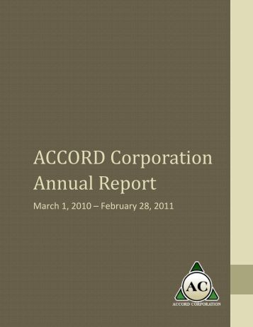 ACCORD Corporation Annual Report